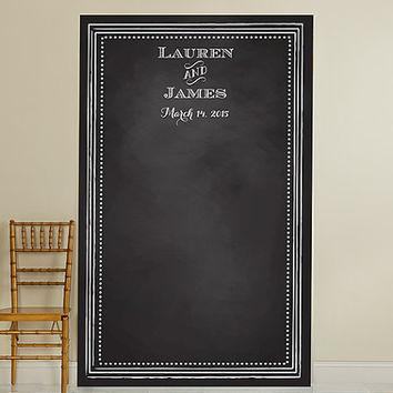 Personalized Photo Booth Backdrop - Rustic Wedding- Chalkboard, Wedding Photo Booth, Photography Background, Ceremony Background