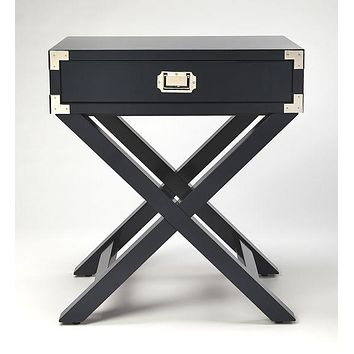 Butler Anew Blue Campaign Side Table
