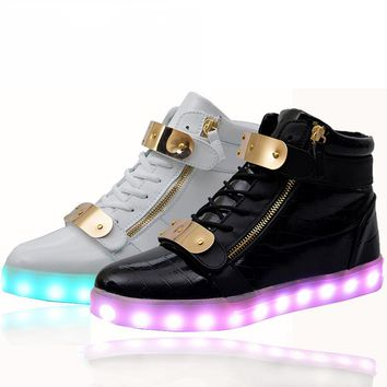 Lights up led luminous sneakers with charge