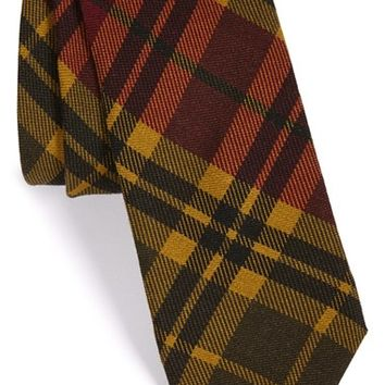 Men's Todd Snyder White Label 'Signature' Plaid Wool Tie, Size Regular - Yellow