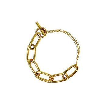 Oval Chained Bracelet