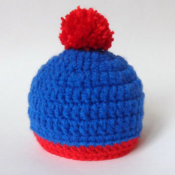 Stan Marsh Hat South Park inspired Beanie Or Choose Your Favorite Character - Newborn to Adult Photo Prop Halloween / Cosplay/ Baby Shower