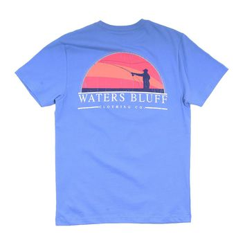 Fly Fisher Tee in Mystic Blue by Waters Bluff