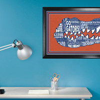 University of Florida Gator 11x17 minimalism poster print - Graduation, Teacher Gifts - Home & Dorm Decor