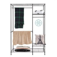 Multi-functional Garment Cloth Rack Closet Organizer Clothes Rack Stand Hanger Wardrobe Home Shelf Without Cover Organizador