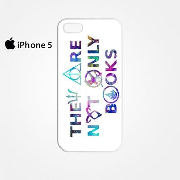 They Are Not Only Books Harry Potter The Hunger Games for Iphone 4/4S Iphone 5/5S/5C Iphone 6/6S/6S Plus/6 Plus 3D Phone case