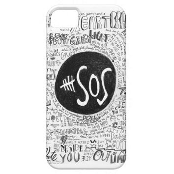 5 Seconds Of Summer Doodles Phone Case