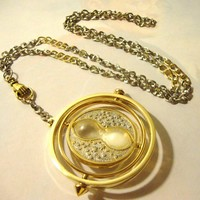 Harry Potter Time Turner Necklace in Hand  Silver & by RazaelsLair
