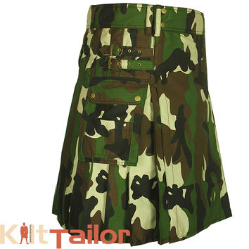 Military Camo Utility kilt For Men's Custom Made