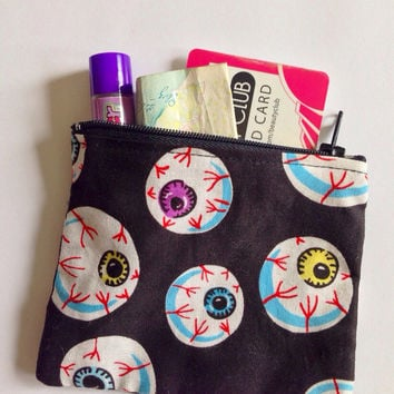 Eyeball Coin Purse Spooky Halloween Goth