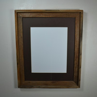 16x20 rustic style wood frame complete with mat for 11x14,12x16,11x17 or 12x18