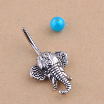 New Charming Dangle Crystal Navel Belly Ring Bling Barbell Button Ring Piercing Body Jewelry = 4661633156