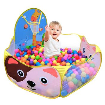 Children tent baby kids ocean ball pool cartoon house playing tent 120*120cm outdoor children fun toy tents (Without Balls)