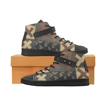Sacko Kuba Cloth  High Top Men's Shoes