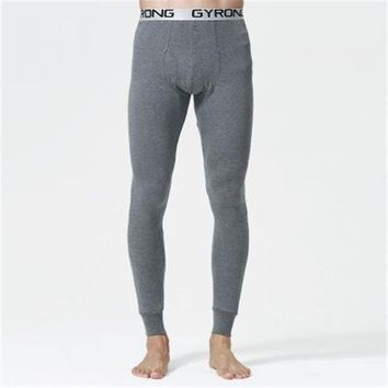 new and winter Men long johns 100% cotton thermal underwear pants 5 colors