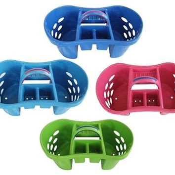 College Shower Room Necessity - Bright Colored Shower Caddy (Available in 4 Colors) - Store College Bath Essentials