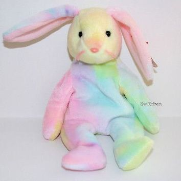 8019ec686b8 Licensed cool HIPPIE TYE DYE EASTER BUNNY Original 1998-99 TY Be