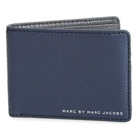 Men's MARC BY MARC JACOBS 'Martin' Leather Bifold Wallet - Blue