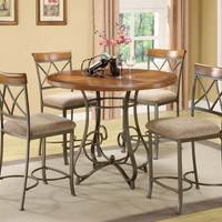 Powell Hamilton Counter Height Table & Stools - 5-Pc Set