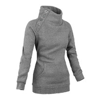 Street Style High Neck Women's Hoodie