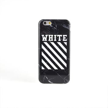 cc DCCK Off White marble iPhone case