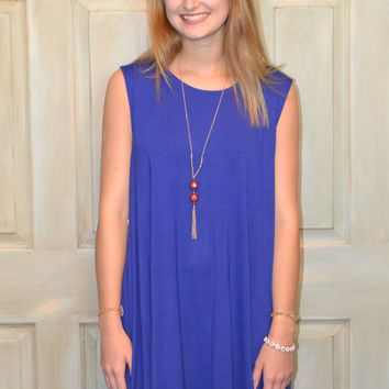 Finding Love Dress: Royal Blue