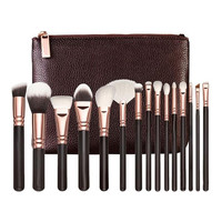 2017 15PCS Professional Powder Foundation Eyeshadow Makeup brushes set Cosmetics Complete Eye Kit+Cosmetic Case Pincel maquiagem