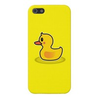 Cute Duck Swimming Cartoon Case For iPhone 5 from Zazzle.com