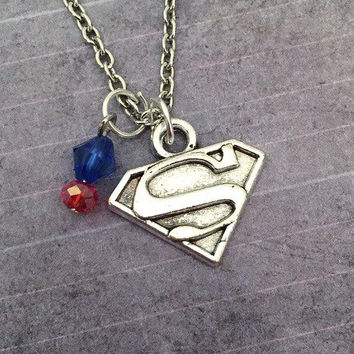 Kryptonian Hero Necklace, Superhero Jewelry, Cosplay Jewelry, Fandom Jewelry, Comic Book Jewelry, Fangirl Jewelry, Krypton Jewelry