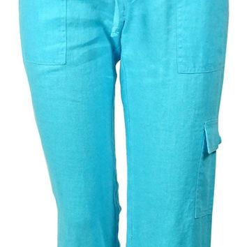 INC International Concepts Women's Regular Fit Linen Pants