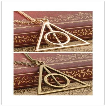 PEAPIX3 Film Movie Harry potter deathly hallows metal Gold necklace pendant as Gifts HOT = 1946876292