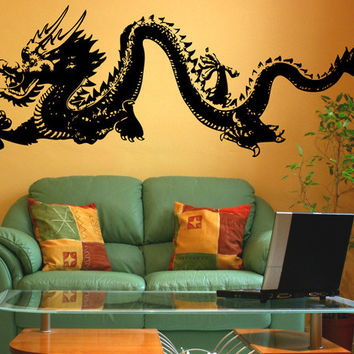 Vinyl Wall Decal Sticker Chinese Dragon #MMartin146