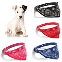 Adjustable Pet Dog Cat Puppies Collars Scarf Triangle  Neckerchief Necklace = 1958182532
