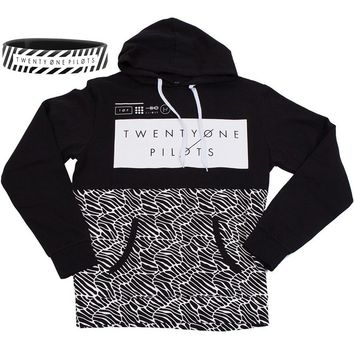 NBDIB For Fans Band Twenty One Pilots Top Black Pattern Pullover Hoodie (S, Black style 1)
