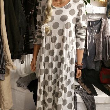 Go Go Dot Cotton Dylan T-Shirt Dress by Magnolia Pearl, https://kollekcio.com