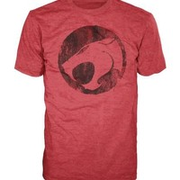Thundercats Original Distressed Logo Adult Red T-shirt - Thundercats - | TV Store Online