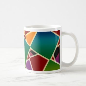 Tiled Colorful Squared Pattern Coffee Mug