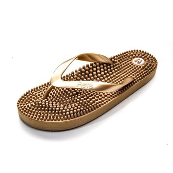 Revs Reflexology Massage Flip Flops. Massage Footbed & Natural Therapy for your Health & Well-being. Increase Circulation & Metabolism. Helps foot pain, swollen legs & feet, joint pain, muscle fatigue