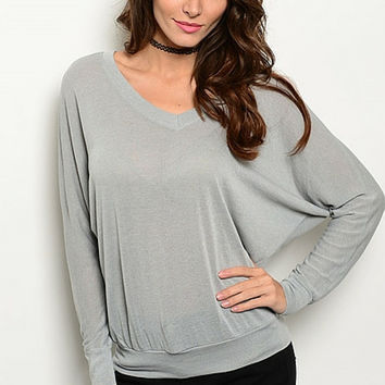 Heathered Jersey Slouch Top