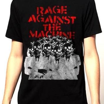 Rage Against The Machine T-Shirt - Skeleton Heads