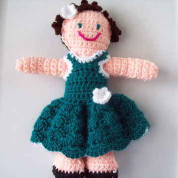 Handmade Crochet Doll, Dolly, Childrens Dolly, Girl Doll, Fashion Doll, Doll, Children's Toy Doll