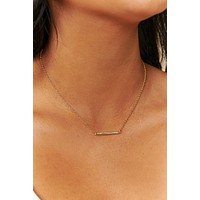 Simply The Best Charm Necklace (Gold)