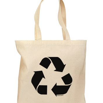 Recycle Black and White Grocery Tote Bag by TooLoud