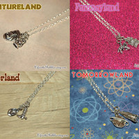 Disneyland Necklaces, Adventureland, Fantasyland, Frontierland, or Tomorrowland, Your Choice, by Life is the Bubbles