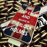 keep calm and believe sherlock for iPhone 4/4s/5/5s/5c/6/6 Plus Case, Samsung Galaxy S3/S4/S5/Note 3/4 Case, iPod 4/5 Case, HtC One M7 M8 and Nexus Case ***
