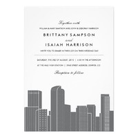 Denver Skyline Wedding Invitation from Zazzle.com