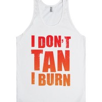 I Don't Tan (Tank)-Unisex White Tank