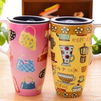 ac DCK83Q Innovative Pottery Cup Gifts Couple Mug [45982613529]