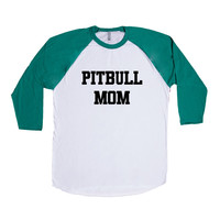 Pitbull Mom Puppy Doggies Doggie Dogs Pup Puppies Pet Pets Mutt Mutts Animals Animal Lover Rescue SGAL2 Baseball Longsleeve Tee