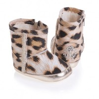 Leopard Print Fleece Lined Bootees